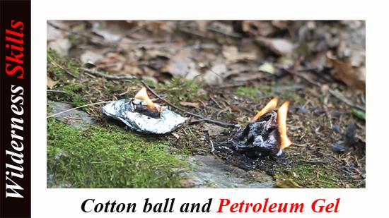 Cottonball and petroleum gel